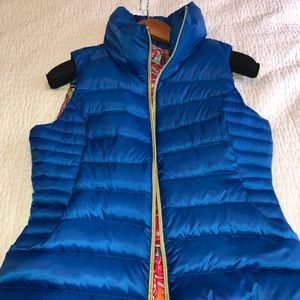 Lilly Pulitzer down vest. Like new.